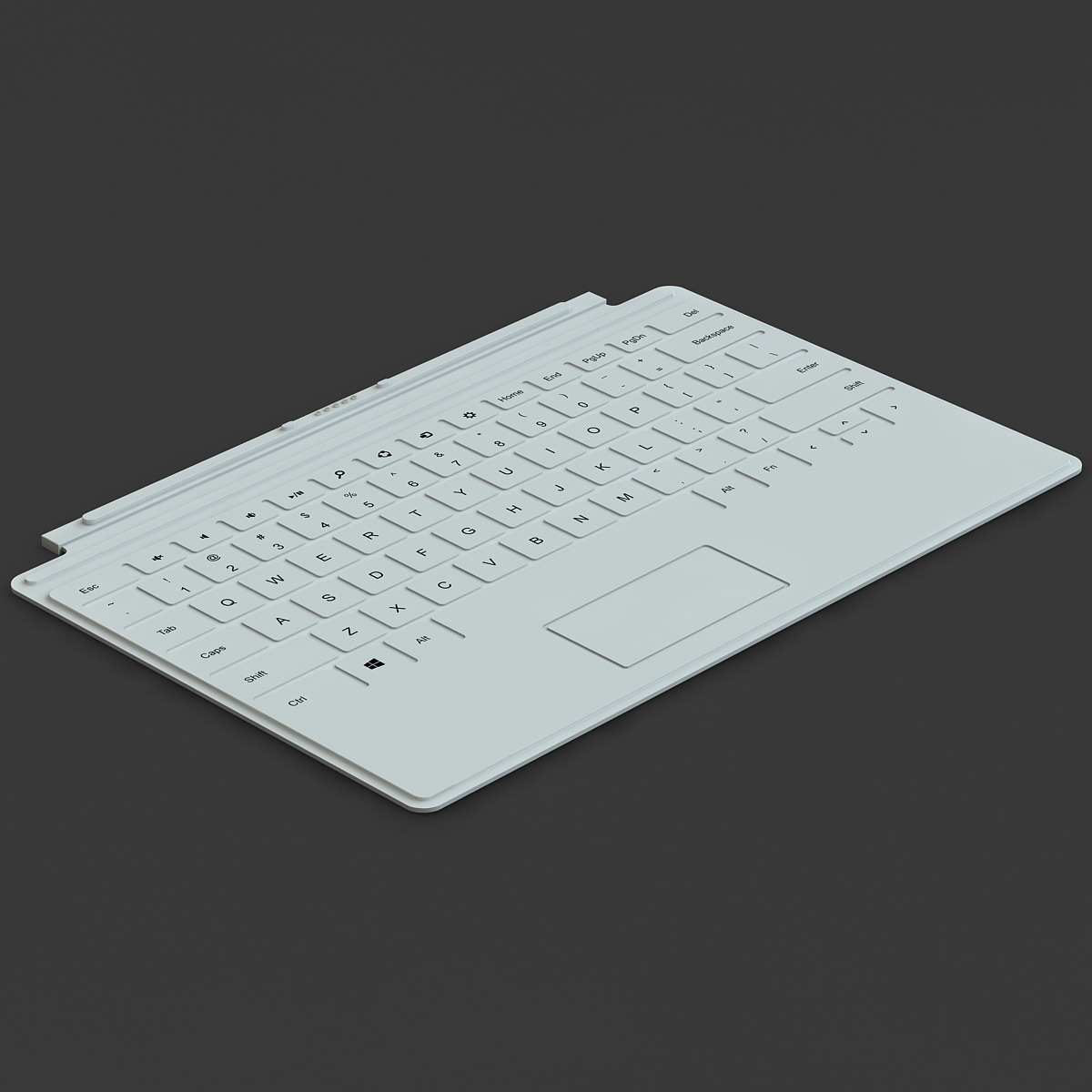 microsoft surface keyboard 3d model