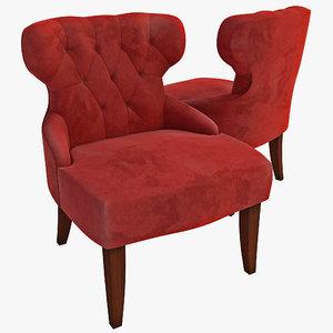 curves hour glass chair c4d