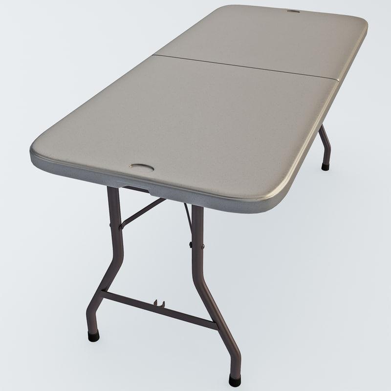 3d model fold multipurpose table