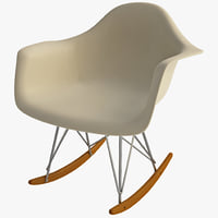 white cradle chair 3d 3ds