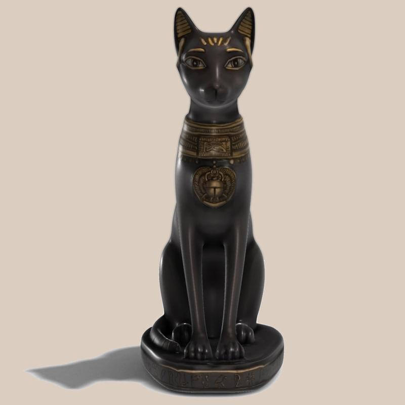 egyptian bastet statue x