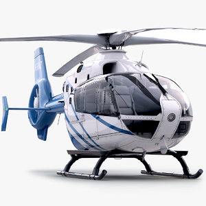 3d eurocopter ec 135 private