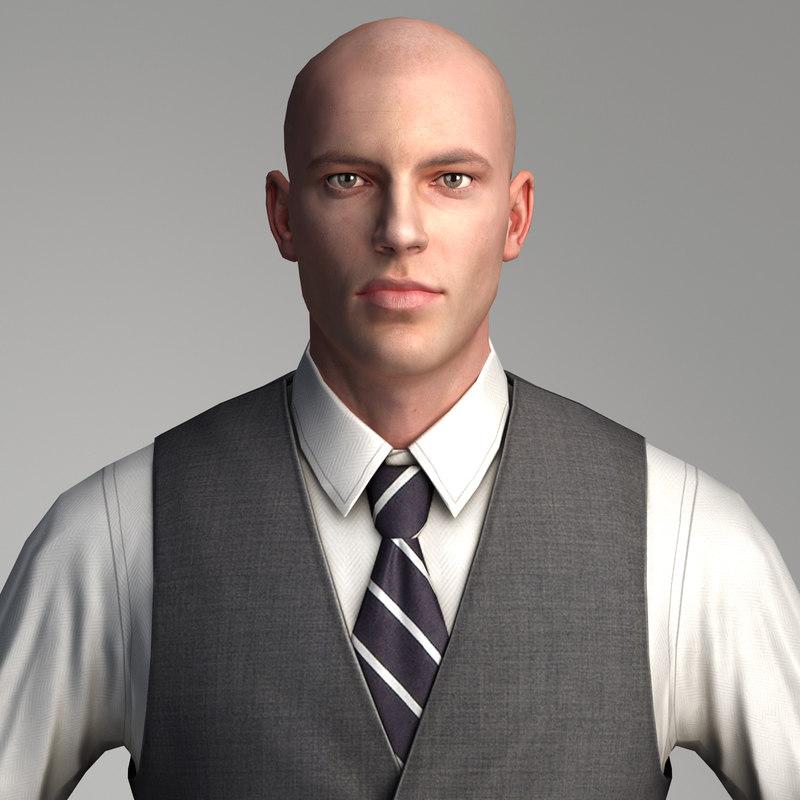 3d model businessman - character games