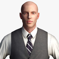 Businessman 3 - Low Polygon Character