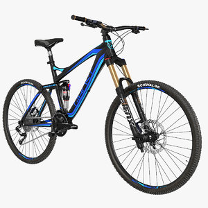 rigged mountain bike 3d model