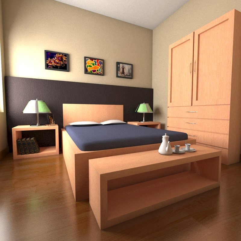 3ds max bed room