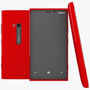 3d red nokia lumia 920