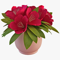 3ds max azalea flower