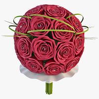 3ds bouquet flower 11