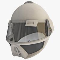 Futuristic Soldier Helmet
