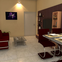 3ds max drawing room