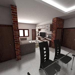 3d model drawing room