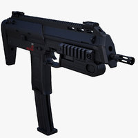 3d mp7a1 rigged model
