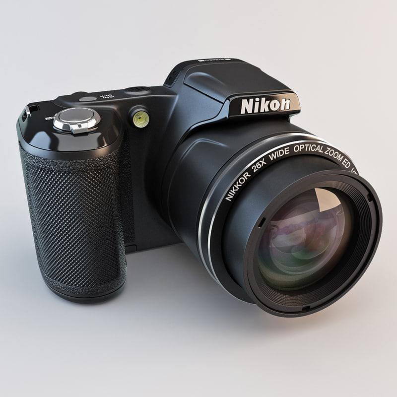 3d model nikon coolpix l810 camera