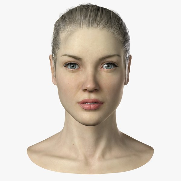 female head 3d max