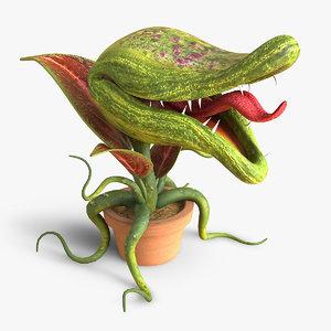 3d monster plant