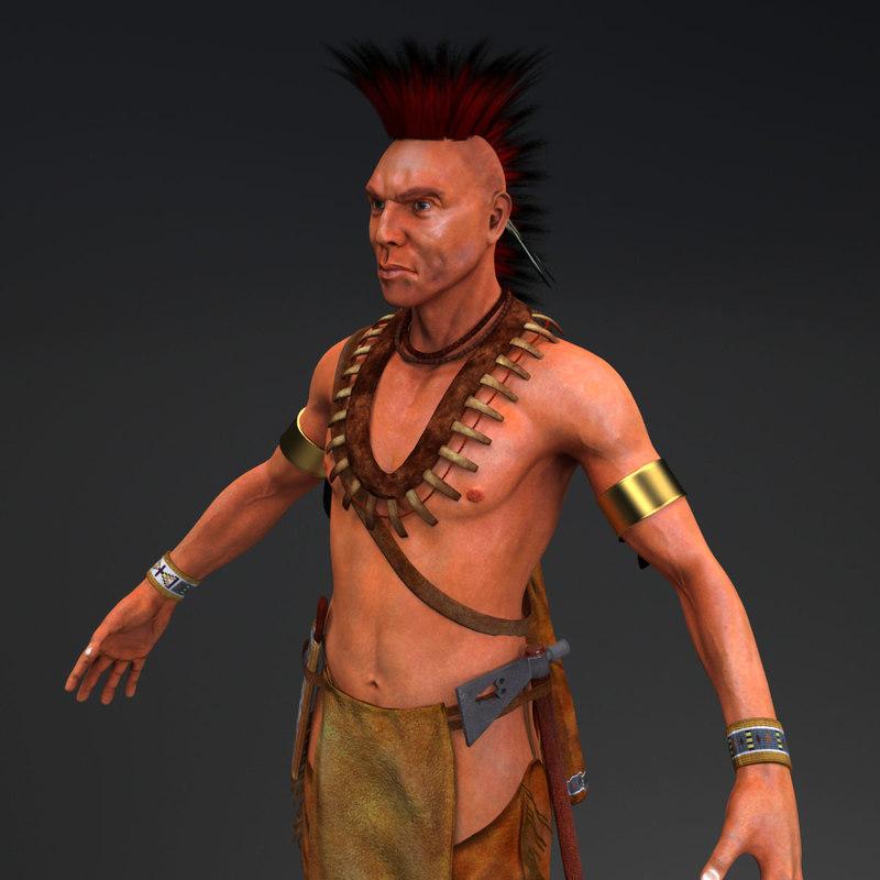native american 3d model