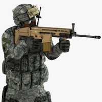 Military Male US Soldier Set 2