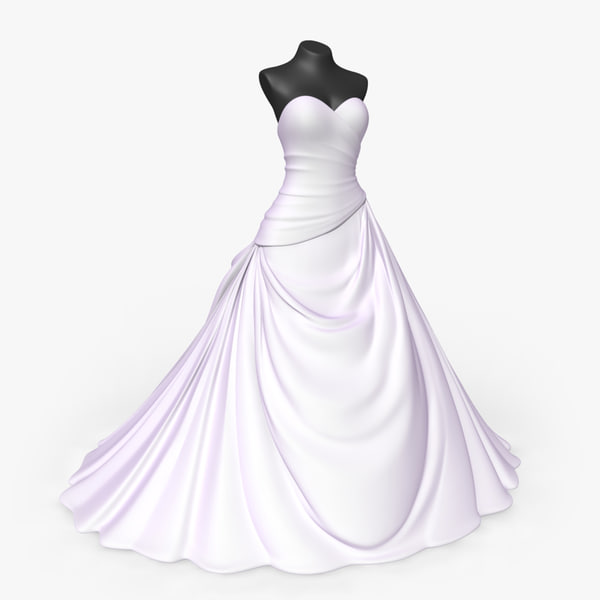3d wedding dress model