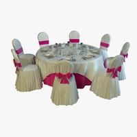 banquet table 3d max