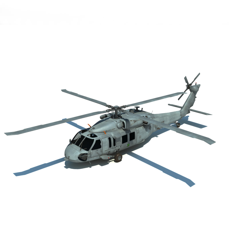 mh-60s sikorsky military helicopter 3d model