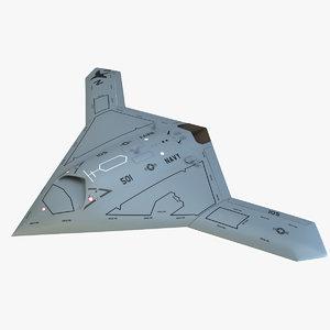 3dsmax x47b bomber