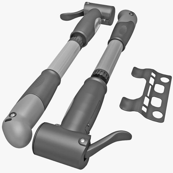 3d model portable bicycle air pump