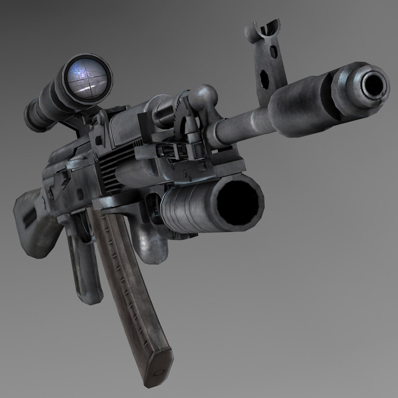 kalashnikov ak-103 assault rifle 3d model