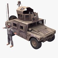 3d model m1114 hmmwv driver