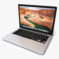 3d macbook pro 13 retina model
