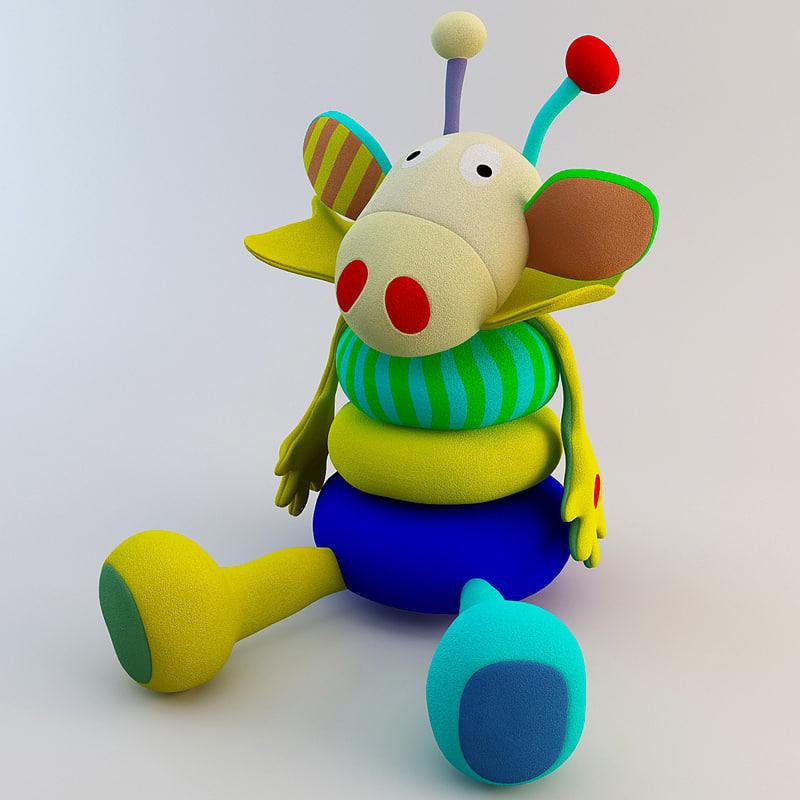 3d stuffed animal toy