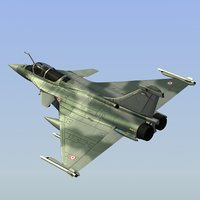 3d odel of rafale c fighter french