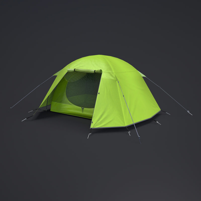 3ds max modern tent
