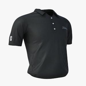 3d model - titleist golf shirt
