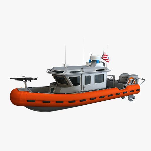 3d model defender coast guard rb-s