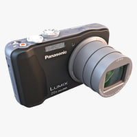 3d model panasonic lumix zs20 camera