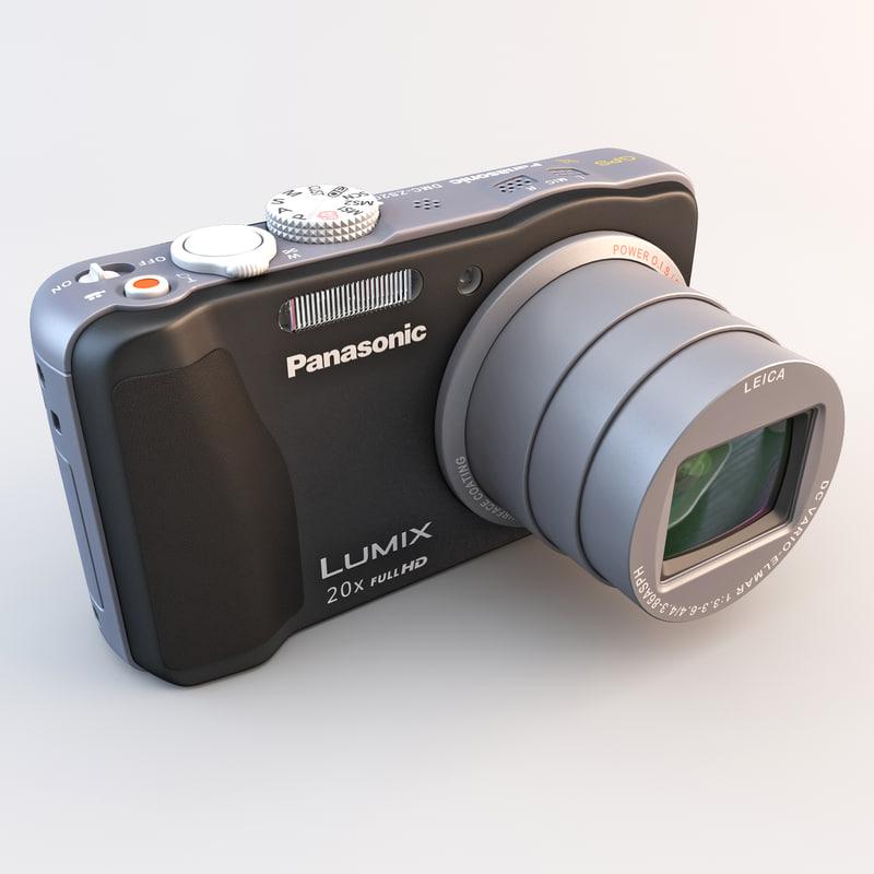 3d model panasonic lumix zs20 camera