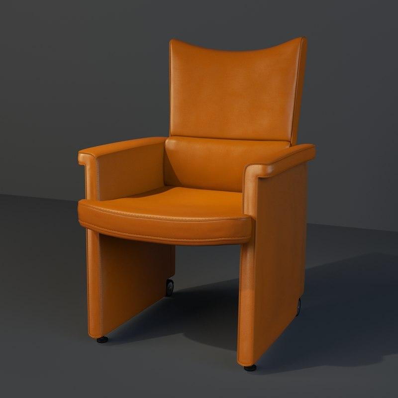 3d model mascheroni office chair