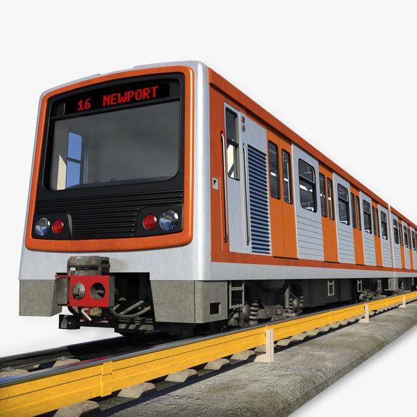 train wagon - 3d obj