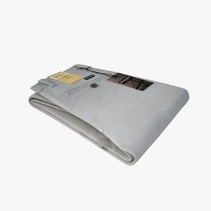 - dockers folded pants 3d model