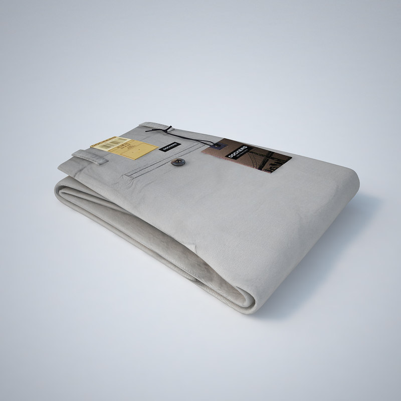 - dockers folded pants 3d model
