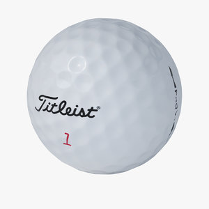 - titleist golf ball 3d mol