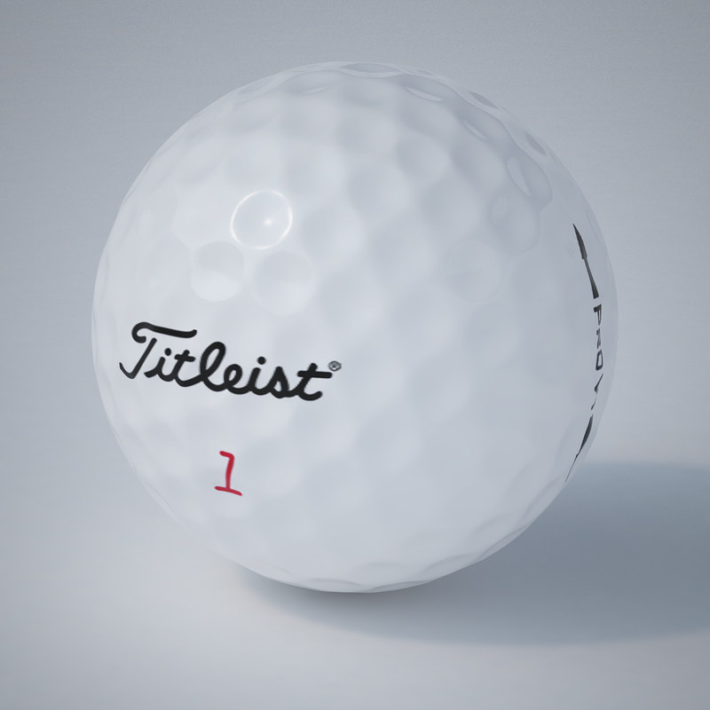 - titleist golf ball 3d mol