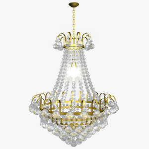 3d max chandelier lighting
