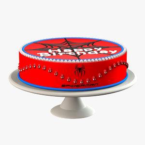 3ds max spiderman cake
