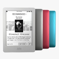 e-book reader 3d models