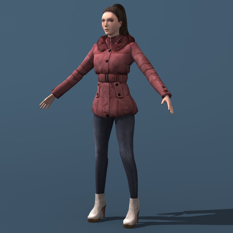 3ds max young woman