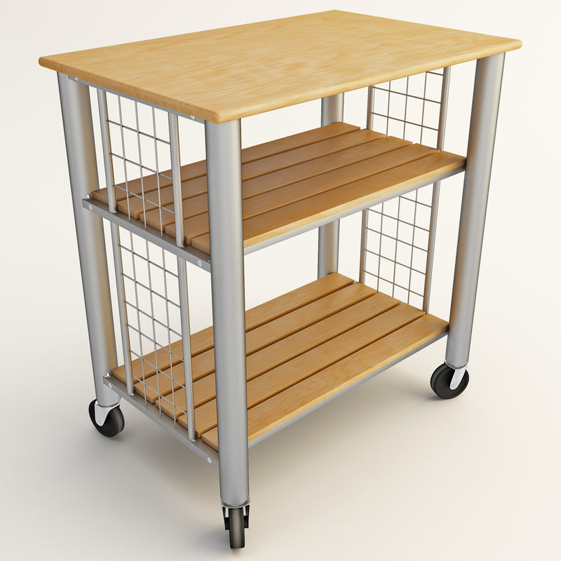 3d rolling cart kitchen