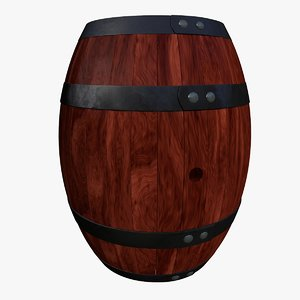 decorative barrel 3d model