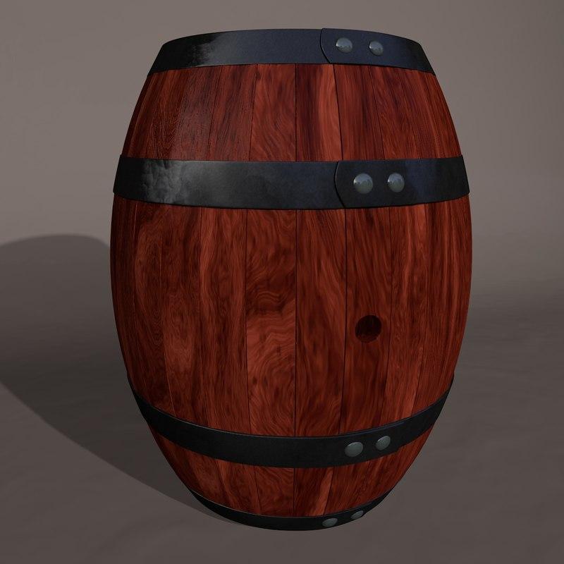 decorative barrel 3d model